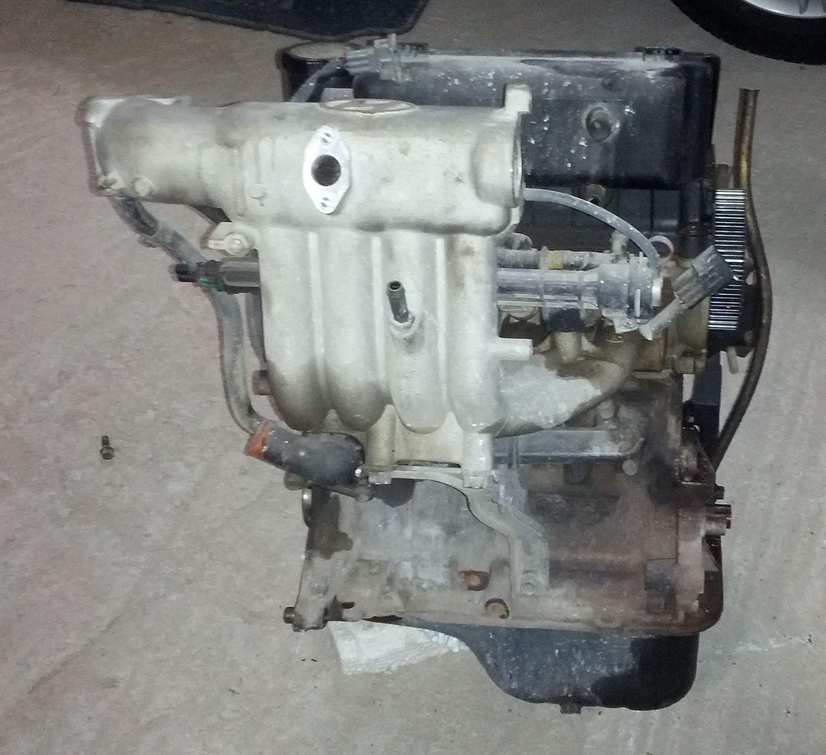 Hyundai Atos Engine Teardown Part 1 Fuel Pressure Diagram Backside