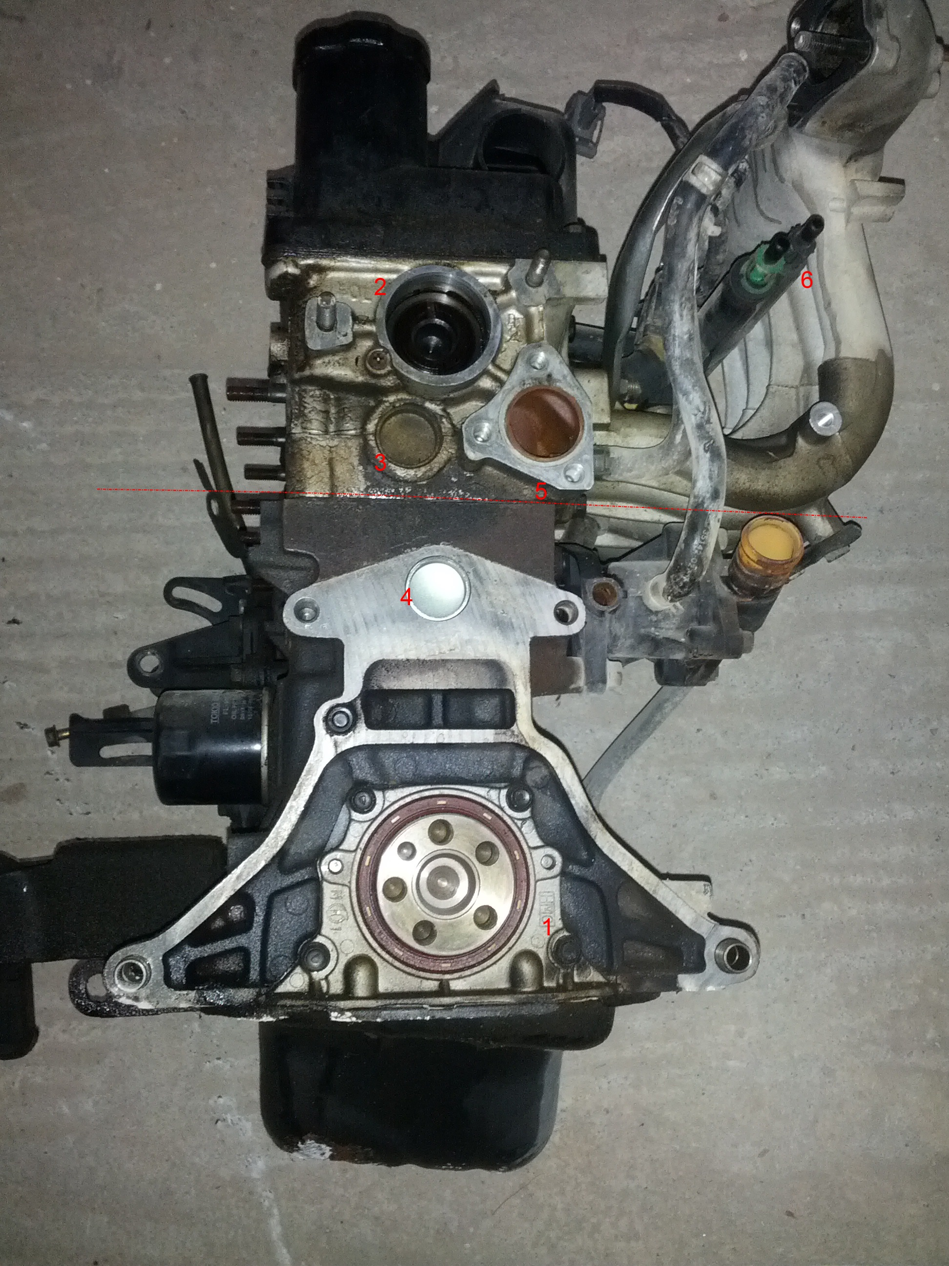 Hyundai Atos Engine Teardown Part 1 Diagram Intake Area Right 2