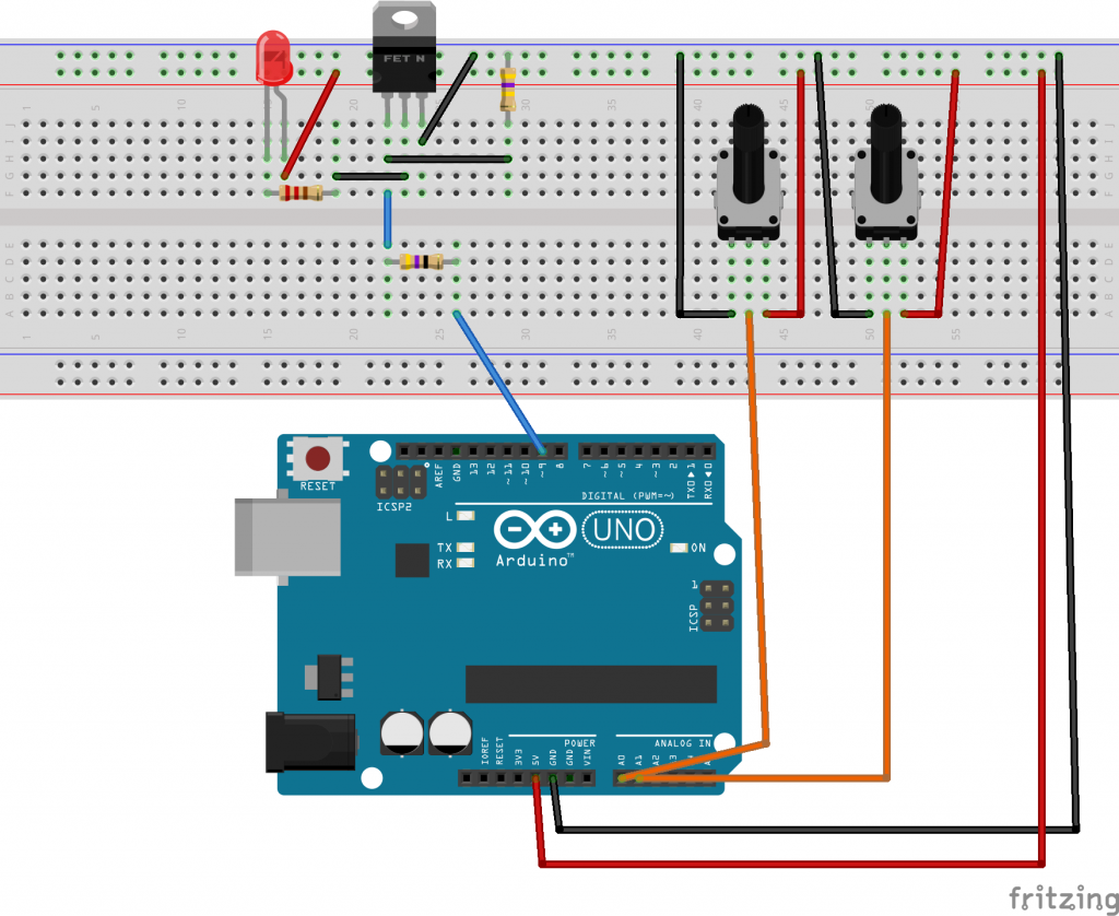 Arduino PWM frequency and duty cycle controller