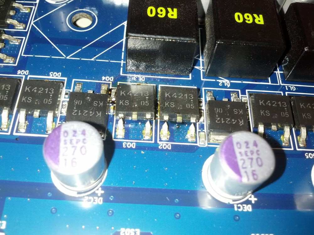 mosfets with pins cut
