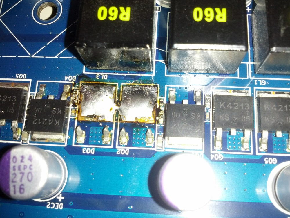 bad mosfets removed