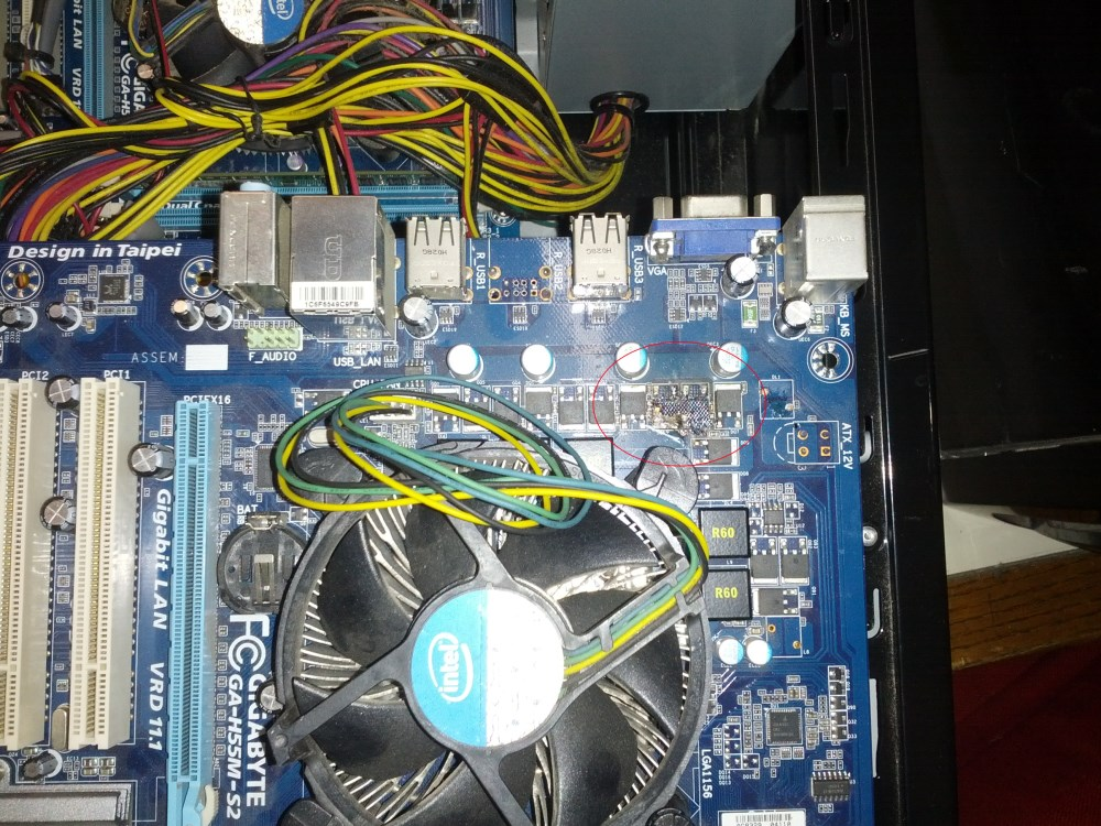 old mobo closeup