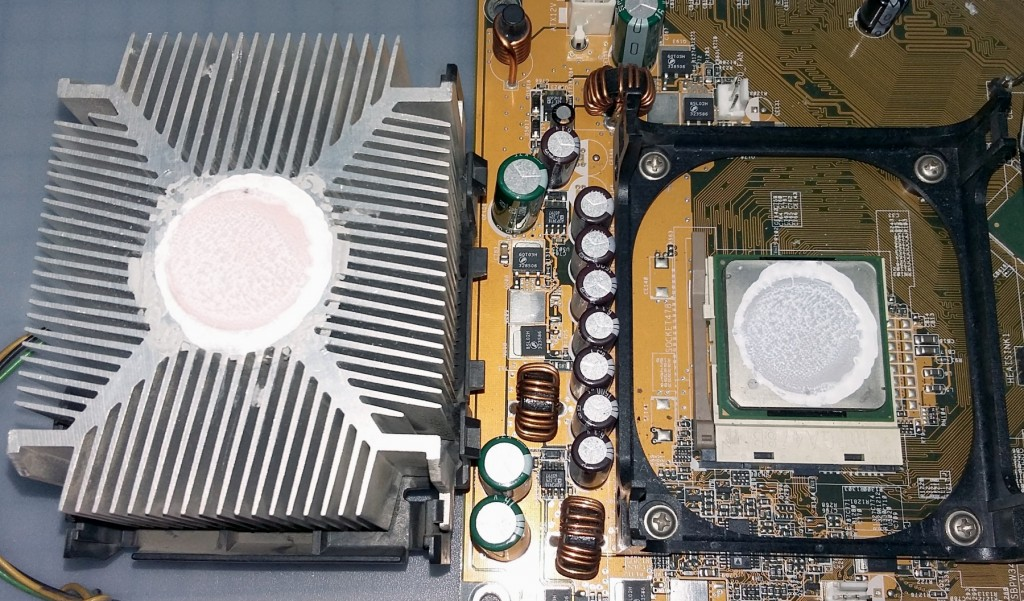 thermal paste application on cpu