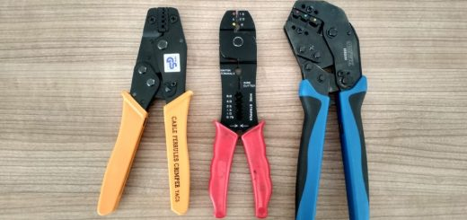 a selection of crimp tools
