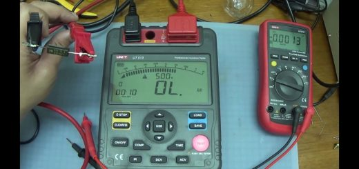 testing a microwave oven diode with an insulation resistance meter